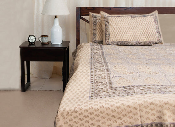 block print bed sheet combo