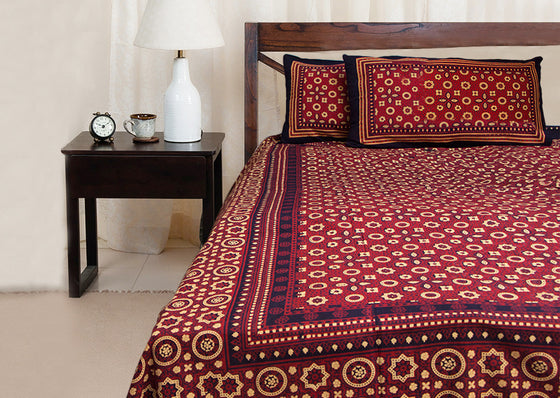 Art of Rajasthan cotton bed sheet set