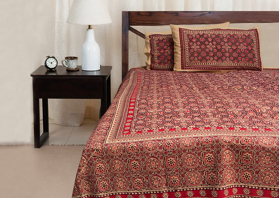 Designer printed double bed sheet