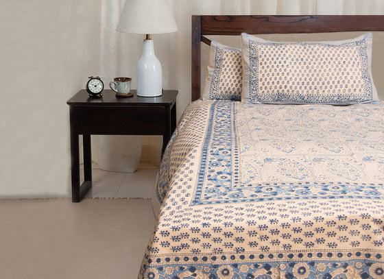 Block Print Rajasthani Bed Sheet & Pillow Cover Set