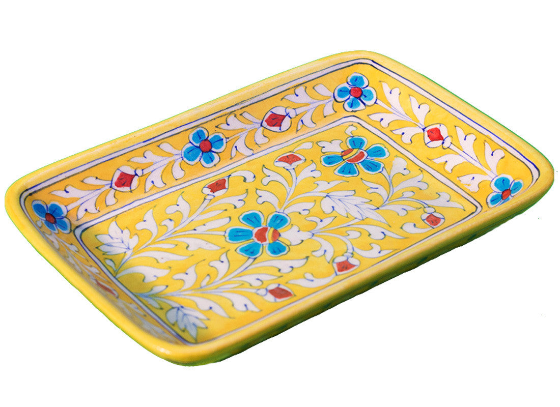 Big floral design rectangle tray
