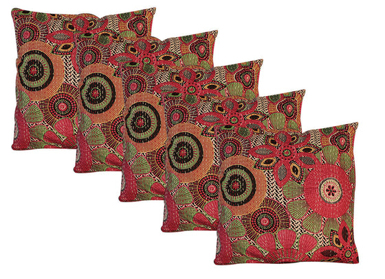 Big floral print cushion covers comes in set of 5