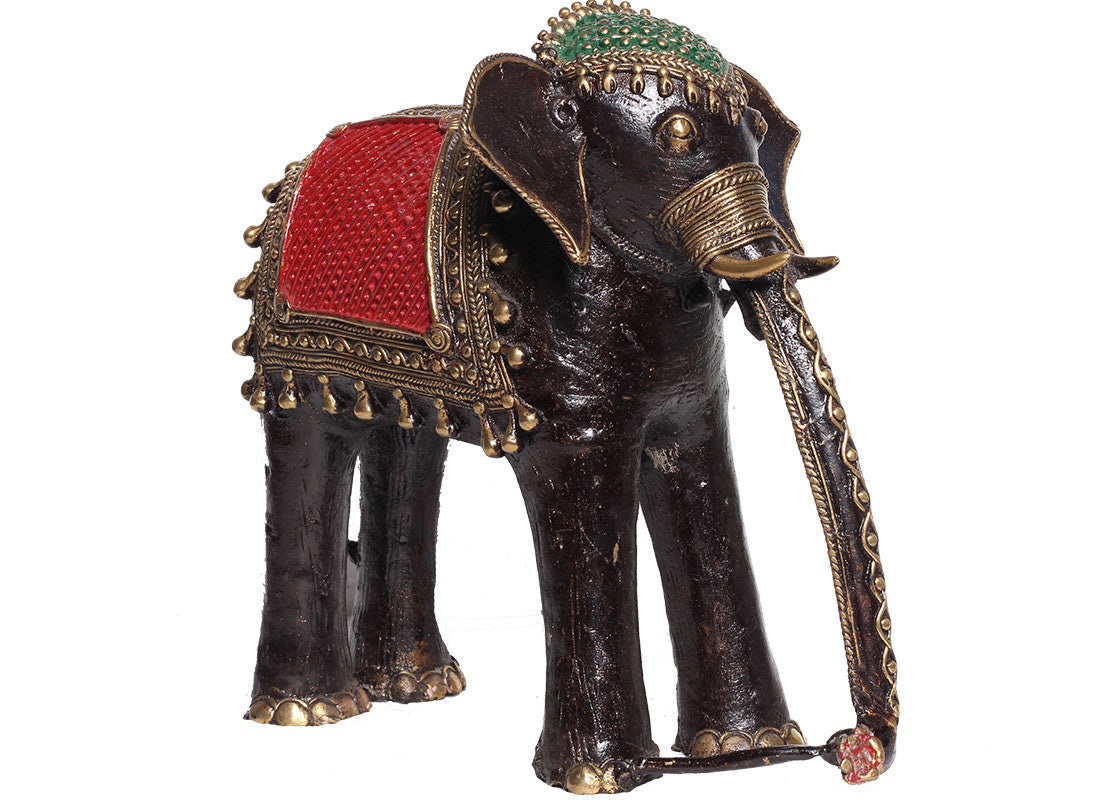 brass metal elephant showpiece