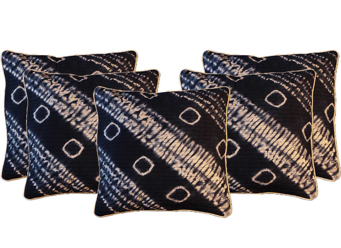 Block printed handcrafted cushion cover set