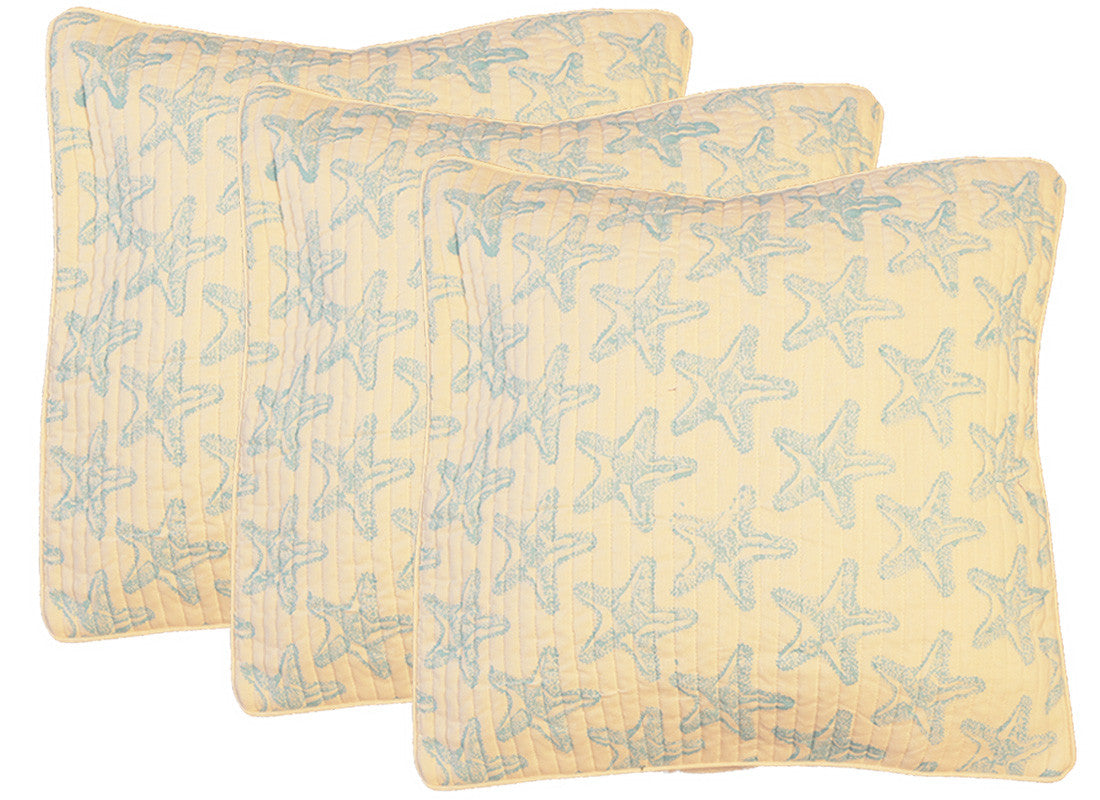 Blue Star Print Cushion Cover