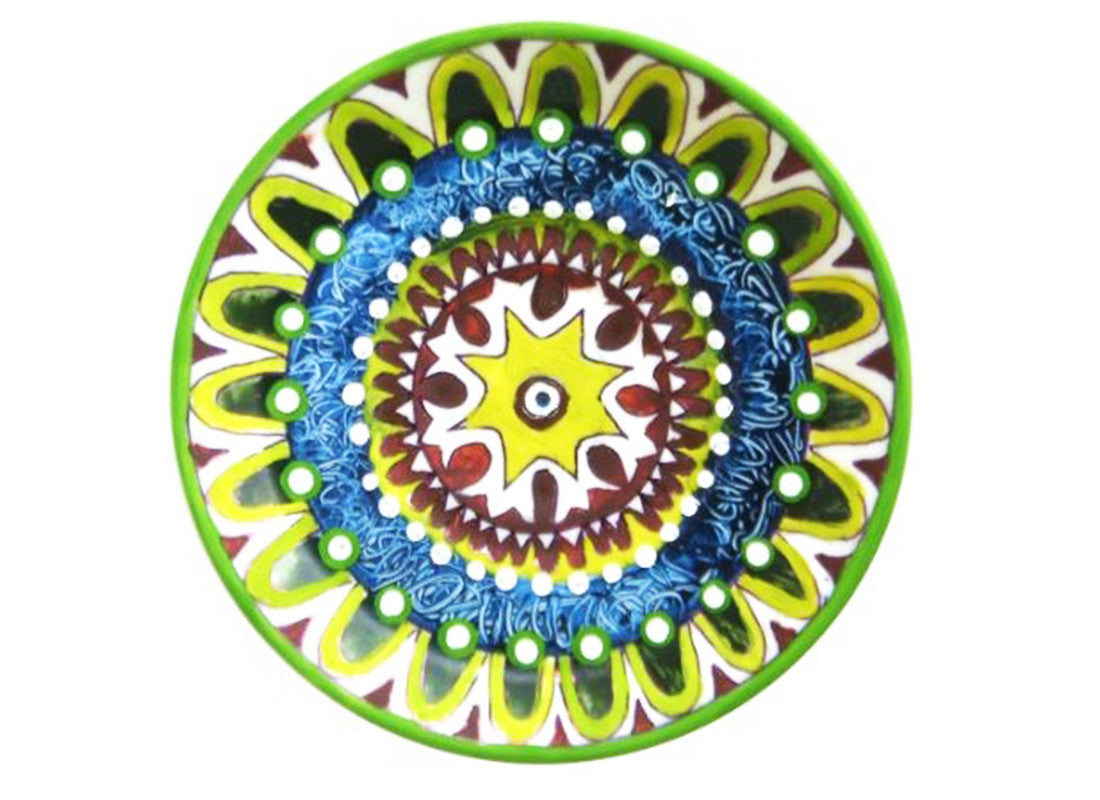 Bright colored Turkish wall hanging plate