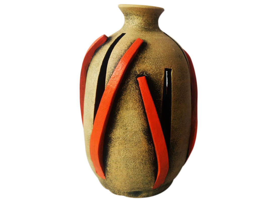 Abstract Art Terracotta Vase Showpiece Set