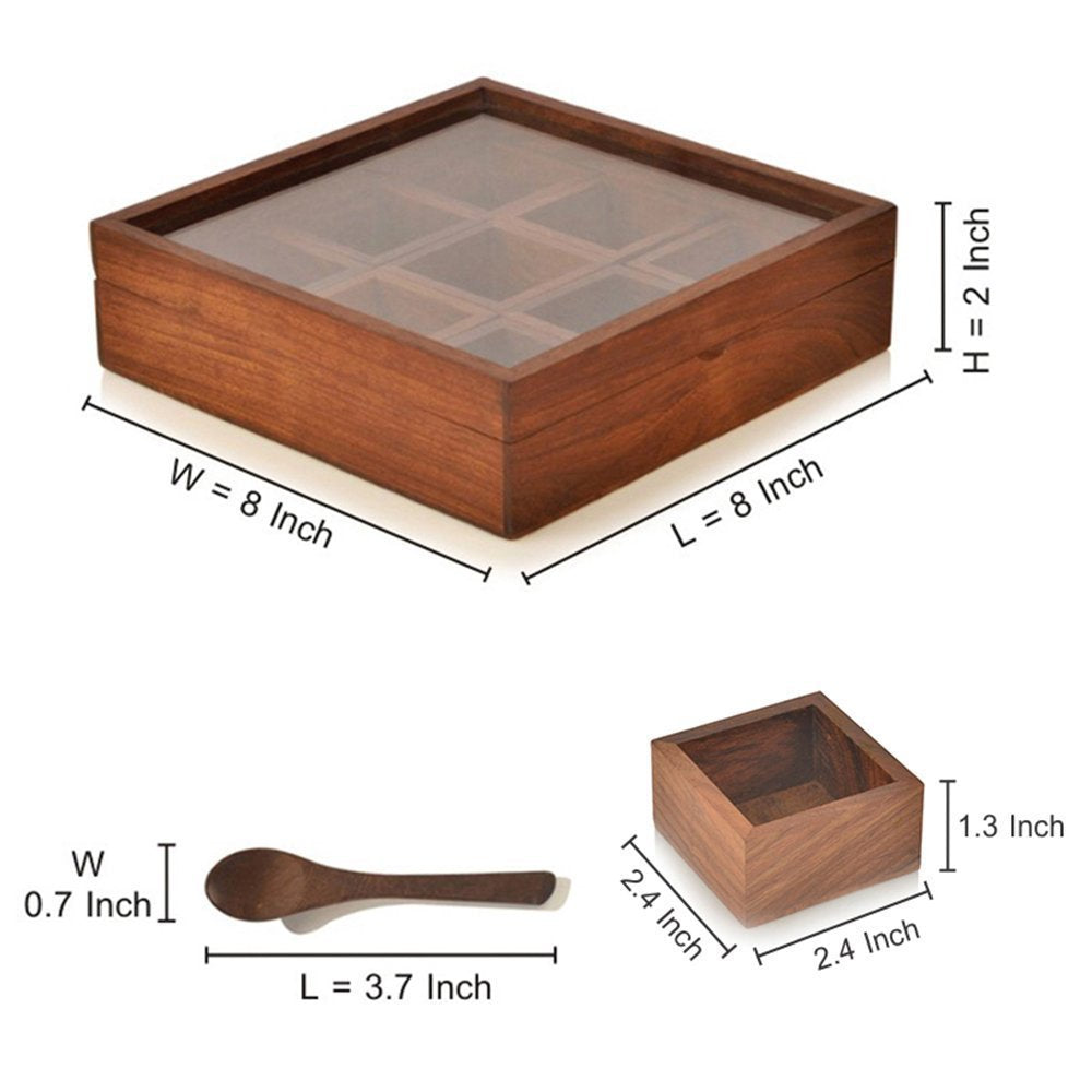 Handcrafted Spice Container Box