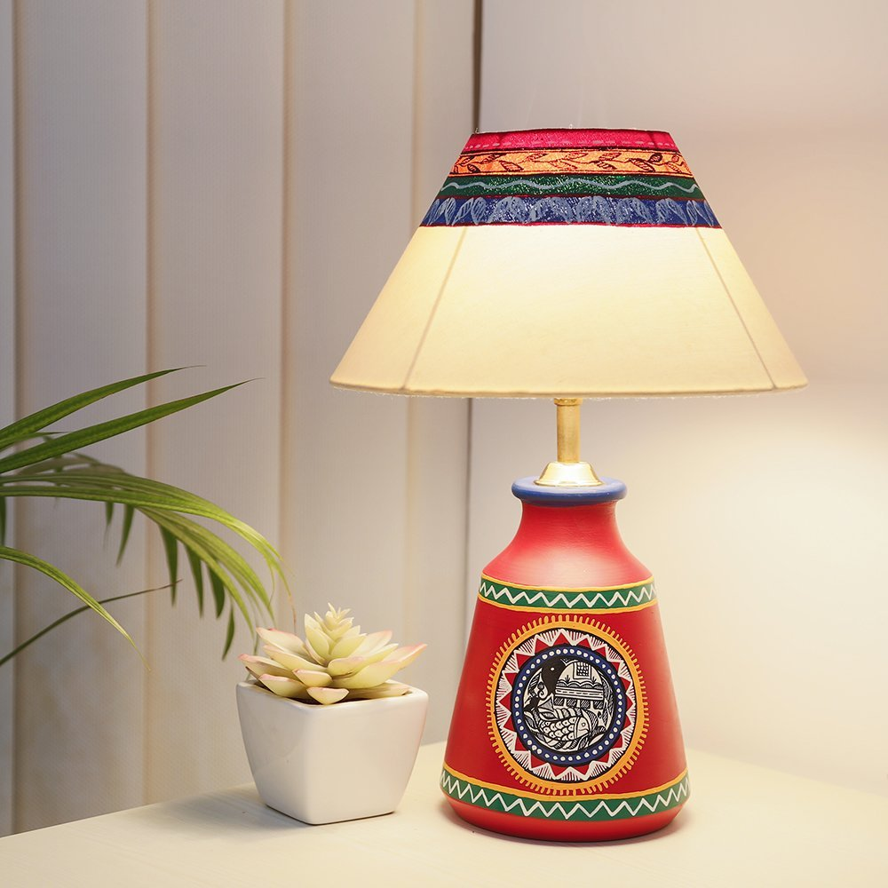 Buy ethnic terracotta lamp shade dcor at lowest rates on ethnic terracotta lamp shade dcor aloadofball Image collections