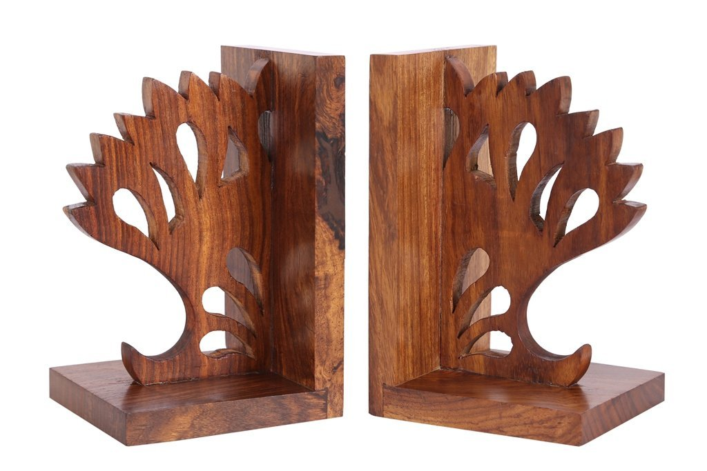 Sheesham Wood Carved Bookend