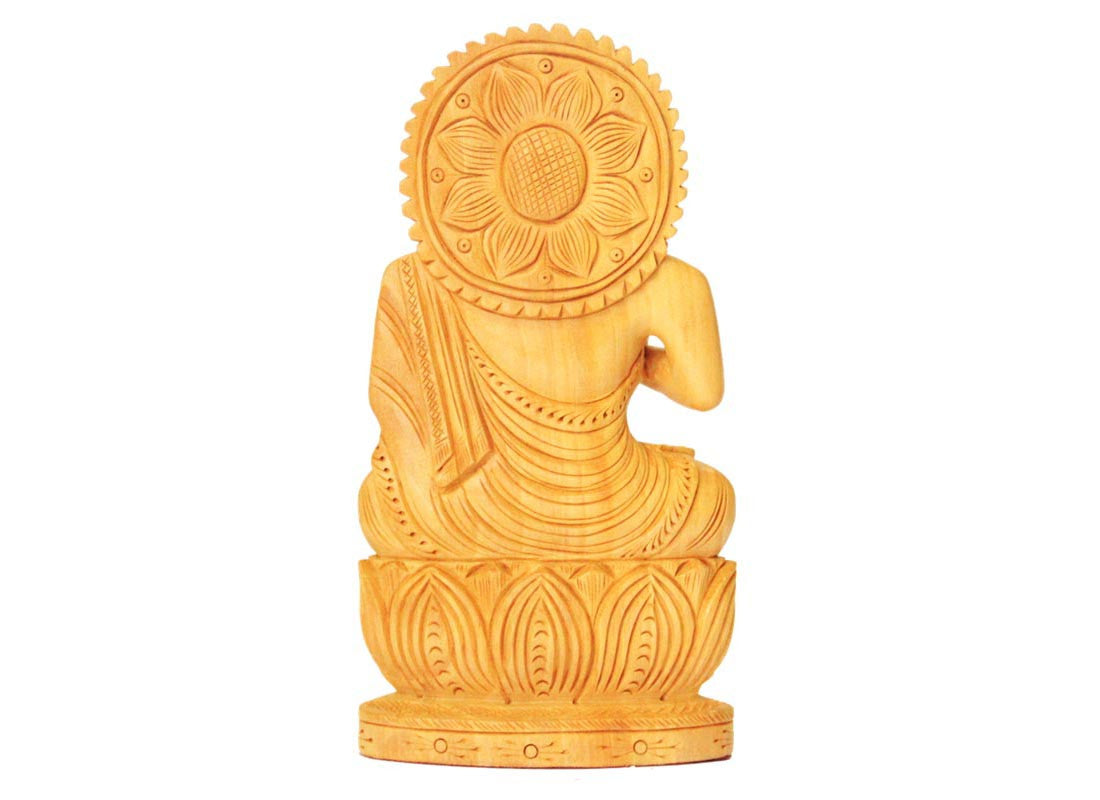 Buy Antique Wooden Buddha Statue at Lowest Rates On Craftedindia.com