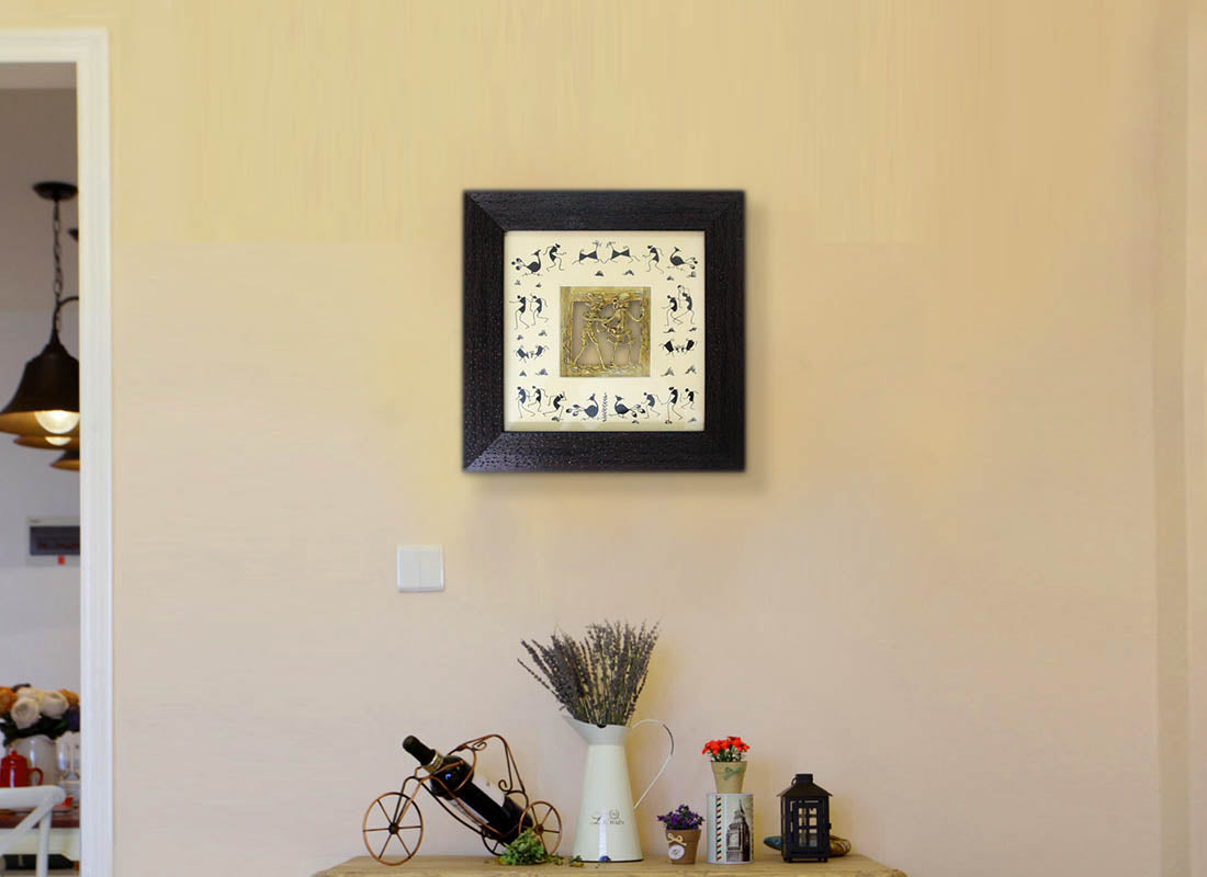 Buy Wooden Dhokra Art Wall Frame at Lowest Rates On Craftedindia.com