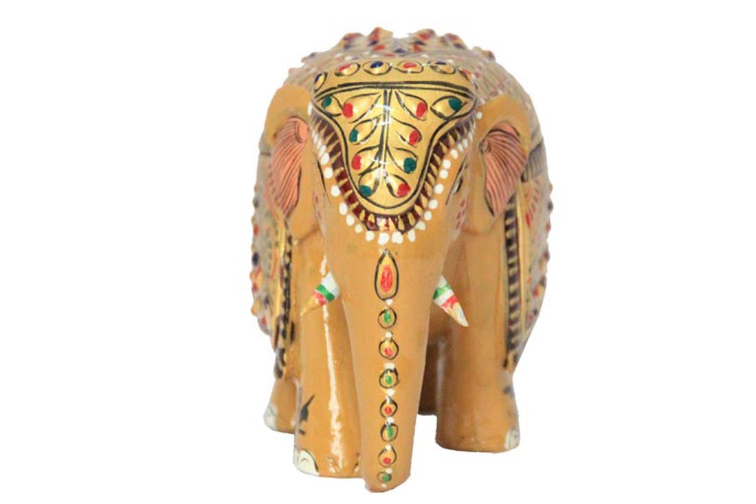 wooden elephant for home decor