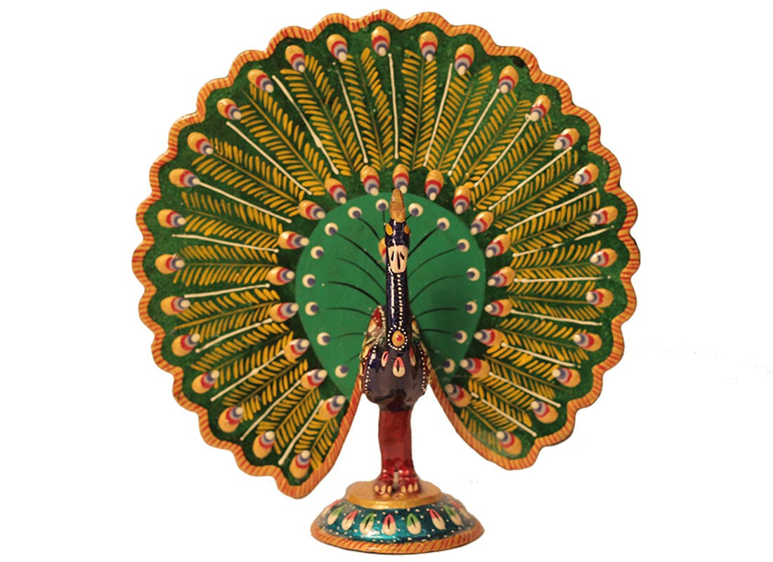 Wooden Peacock Showpiece