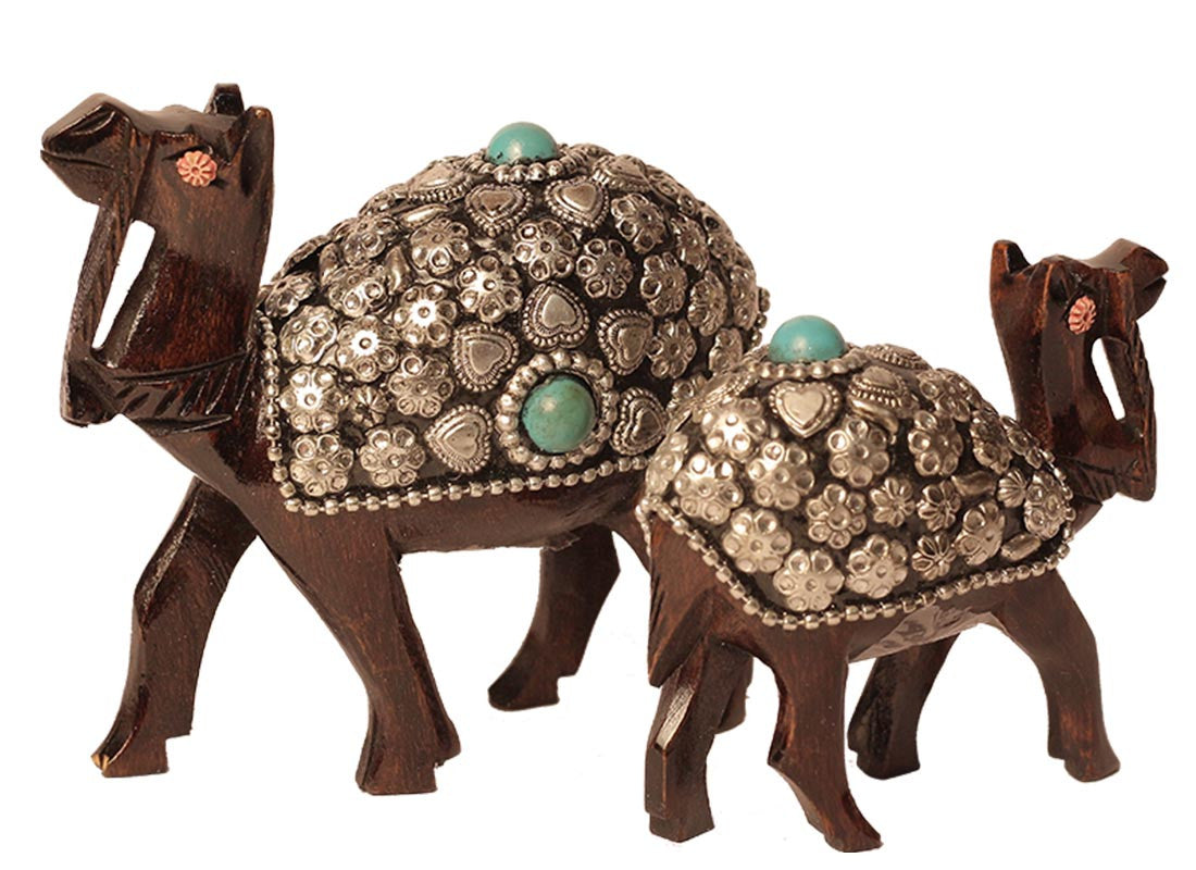 Wooden Camel Decor