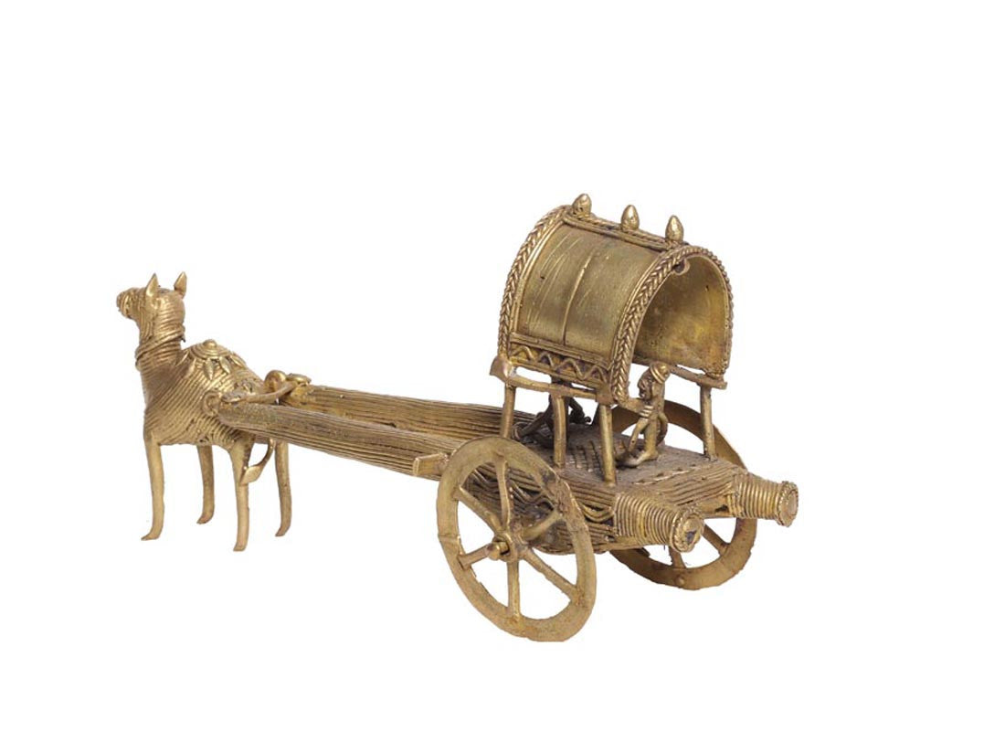 decorative metal camel cart