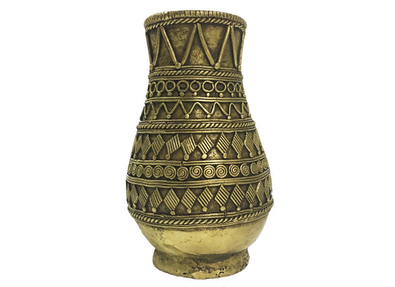 Carved Designs Antique Dhokra Vase