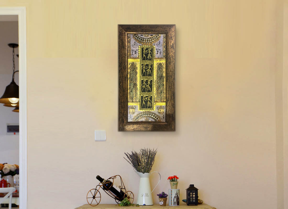 Buy Exquisite Tribal Dhokra Wall Décor Frame at Lowest Rates On ...