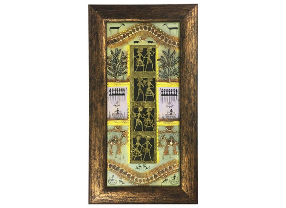 Antique Tribal Dhokra Décor Wall Art Frame