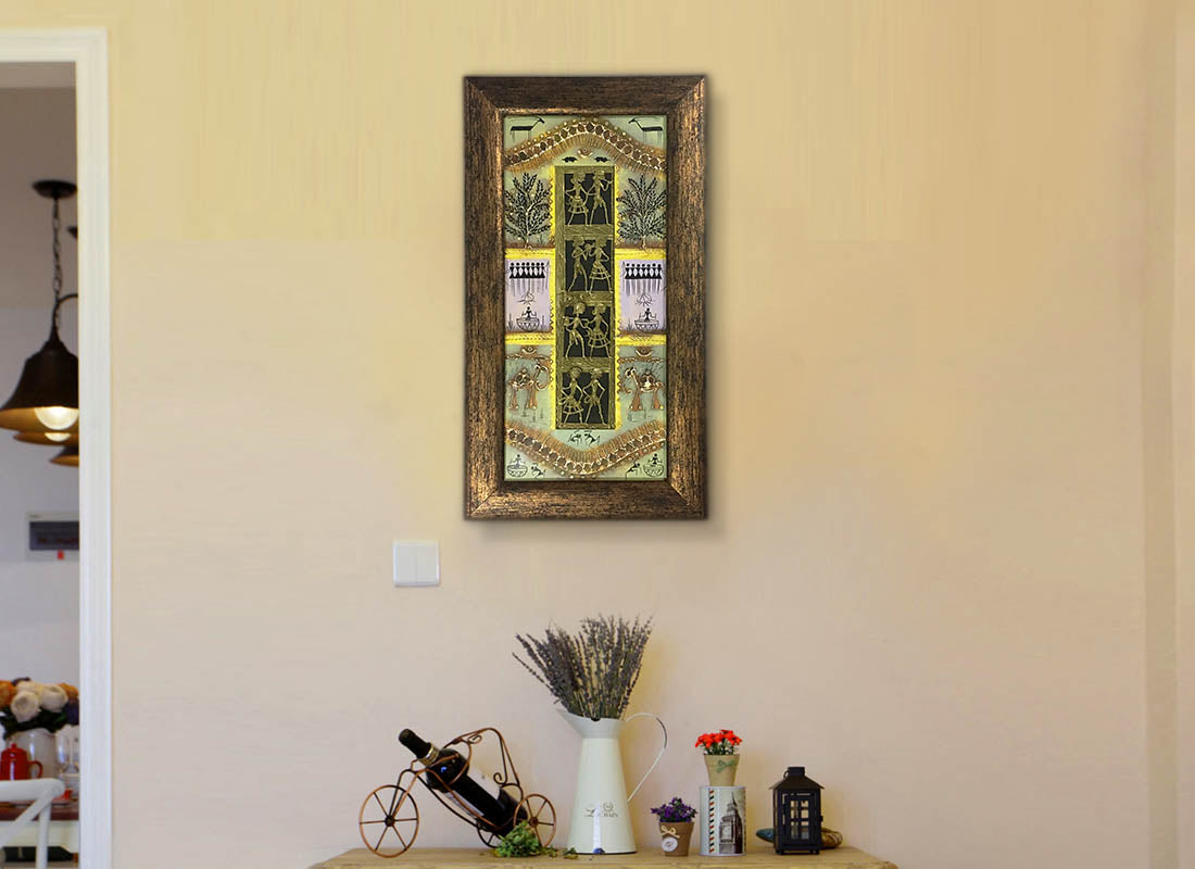 Buy Antique Tribal Dhokra Décor Wall Art Frame at Lowest Rates On ...