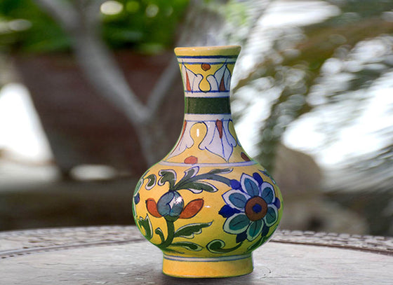 Bright Yellow Decorative Vase