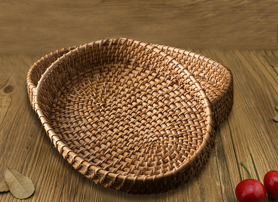 Handcrafted Oval Serving Tray Set