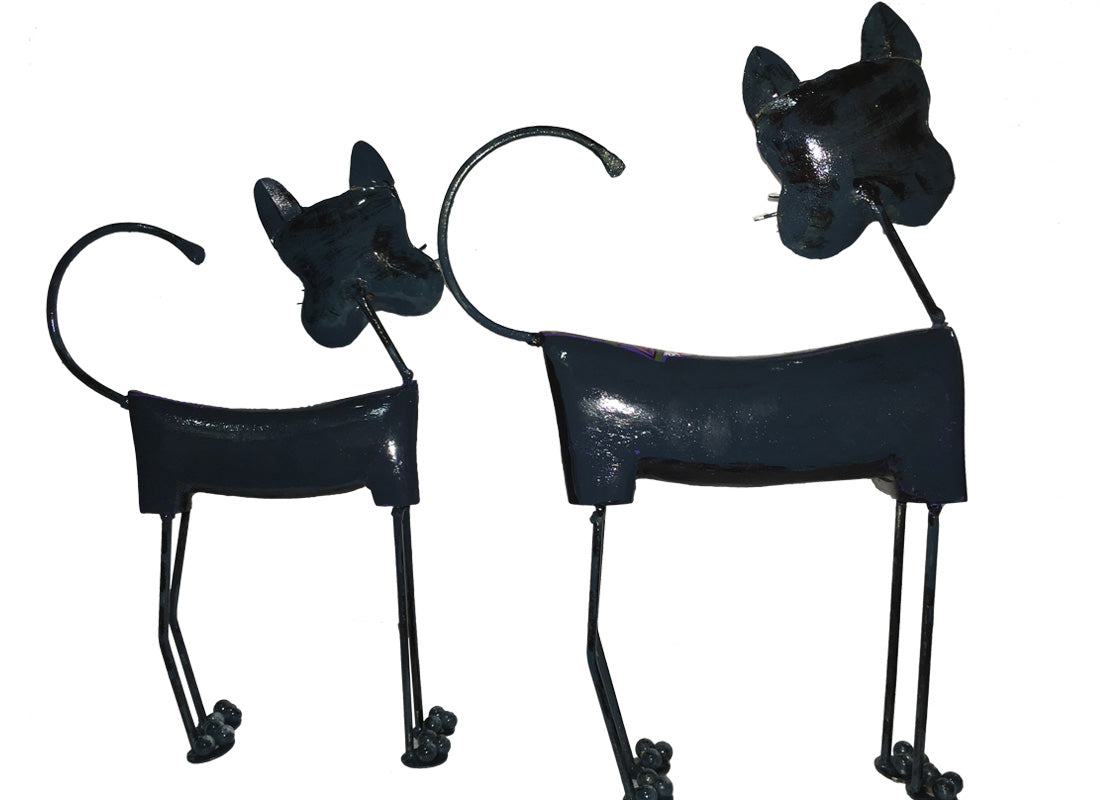 Metal Cat Showpiece