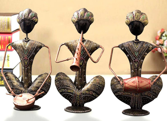 Set of 3 Ethnic Musician Showpiece Figurines