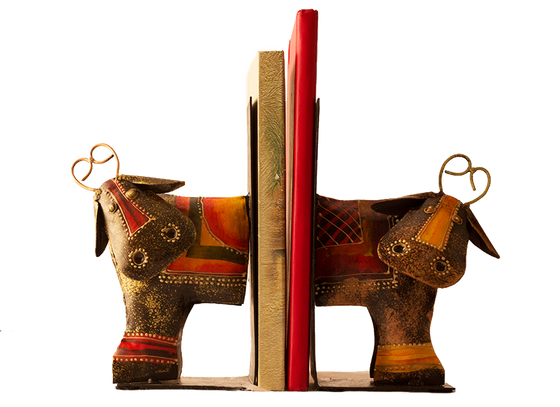 Stylish Metal Bull Bookend