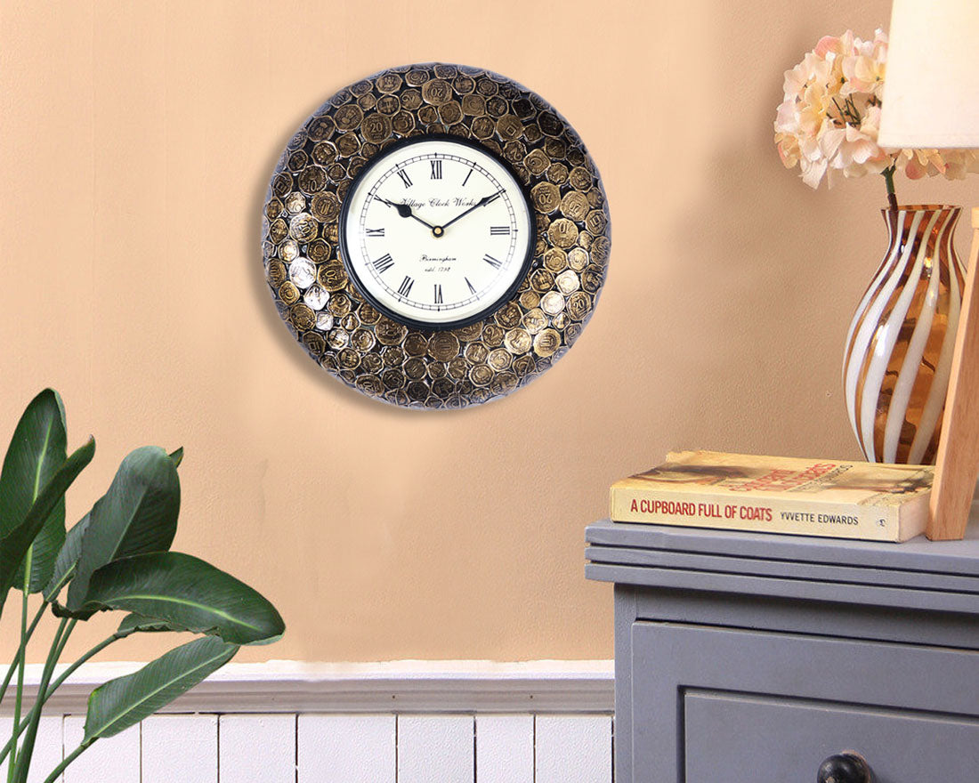 Exquisite Vintage Coin Wall Clock
