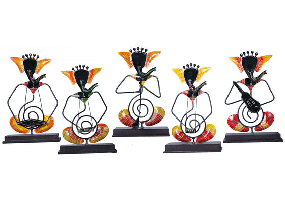 Antique Ganesha Musician Showpiece Set of 5