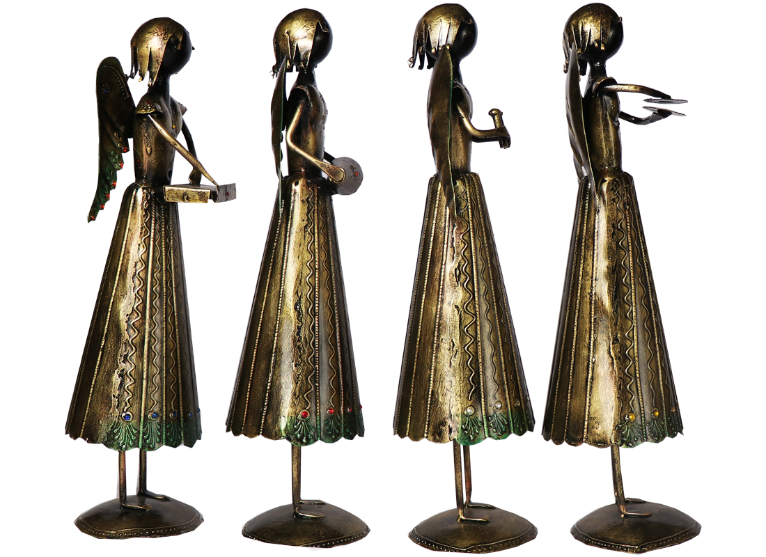 Handcrafted Angel Musician Showpiece Set Of 5