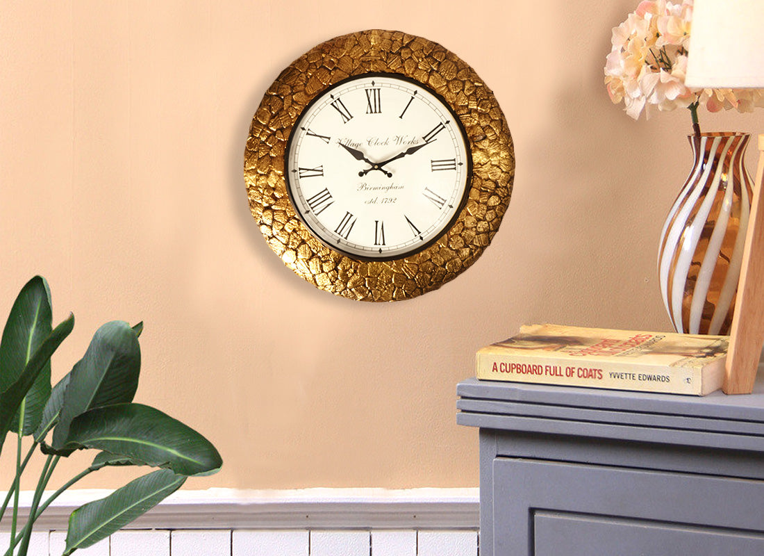 Buy Decorative Bronze Color Wall Clock Online at Discount Prices