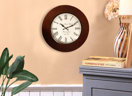 Classic Wooden Round Wall Clock