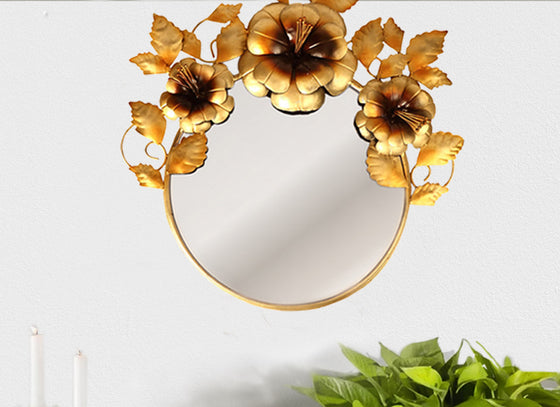 Floral Decorative Wall Mirror
