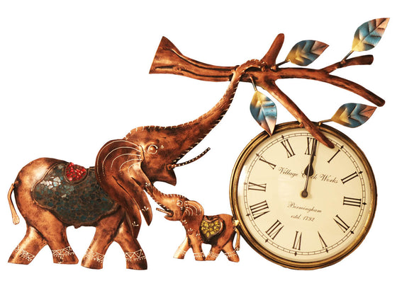 Quirky Elephant Design Wall Hanging Clock