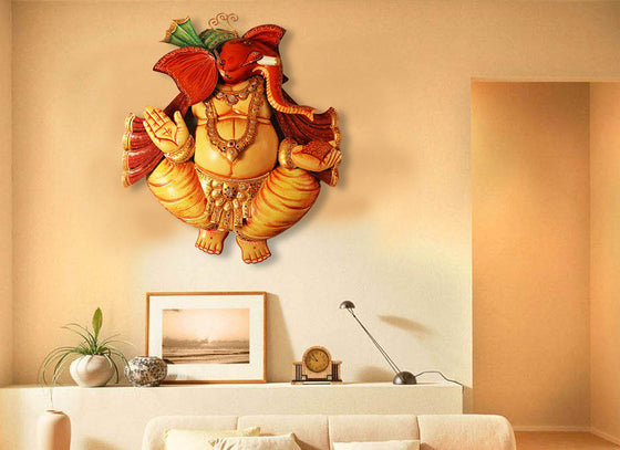 Hand-painted Multicolor Ganpati Wall Décor