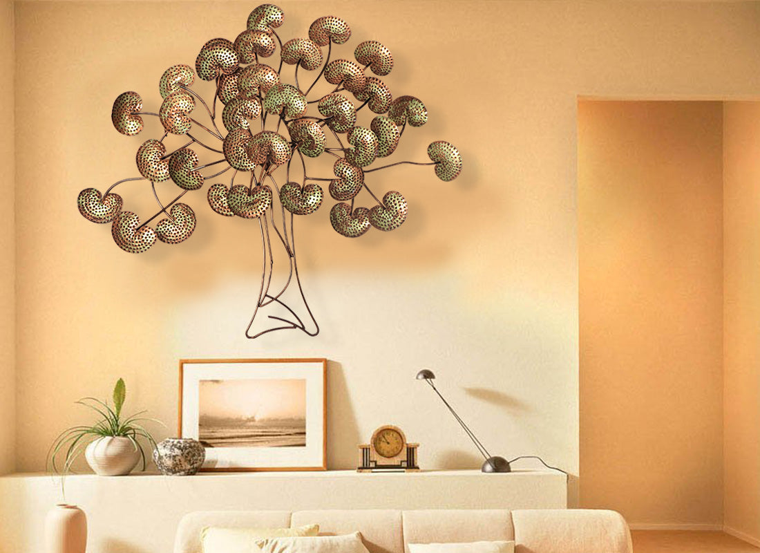 Large Metal Tree Wall Hanging Buy Large Metal Tree Wall Art At Lowest Rates On Craftedindia