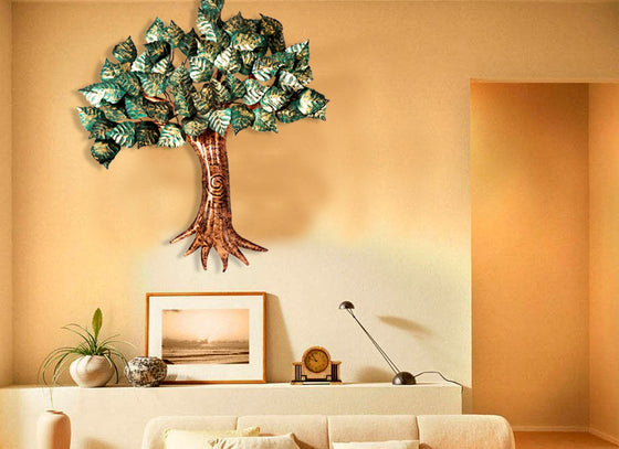 Wall Hanging Metal Tree Showpiece