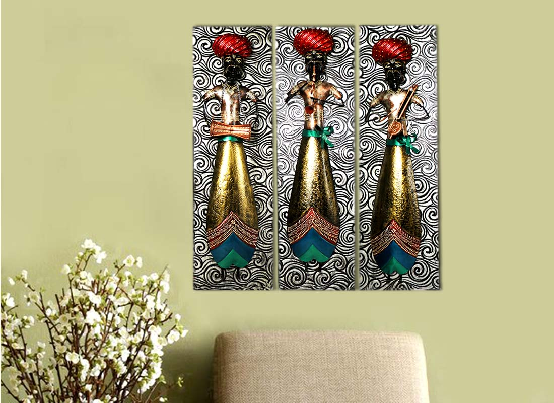 Buy Rajasthan Pagadi Musician Wall Decor Frame at Lowest Rates On ...