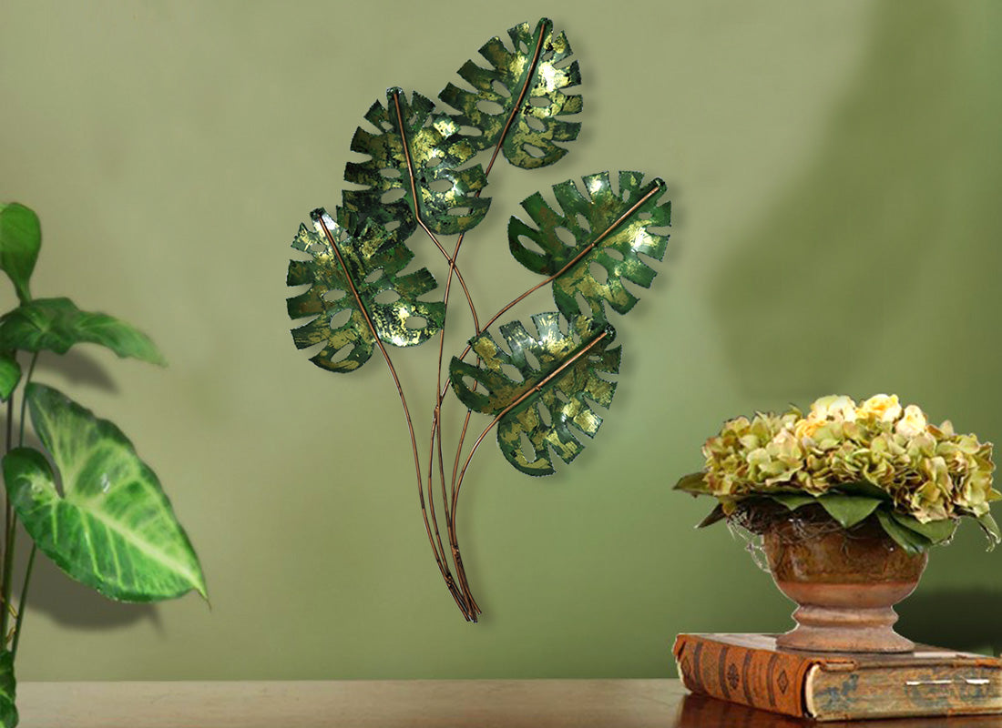 Handmade Metal Leaf Wall Hanging Décor