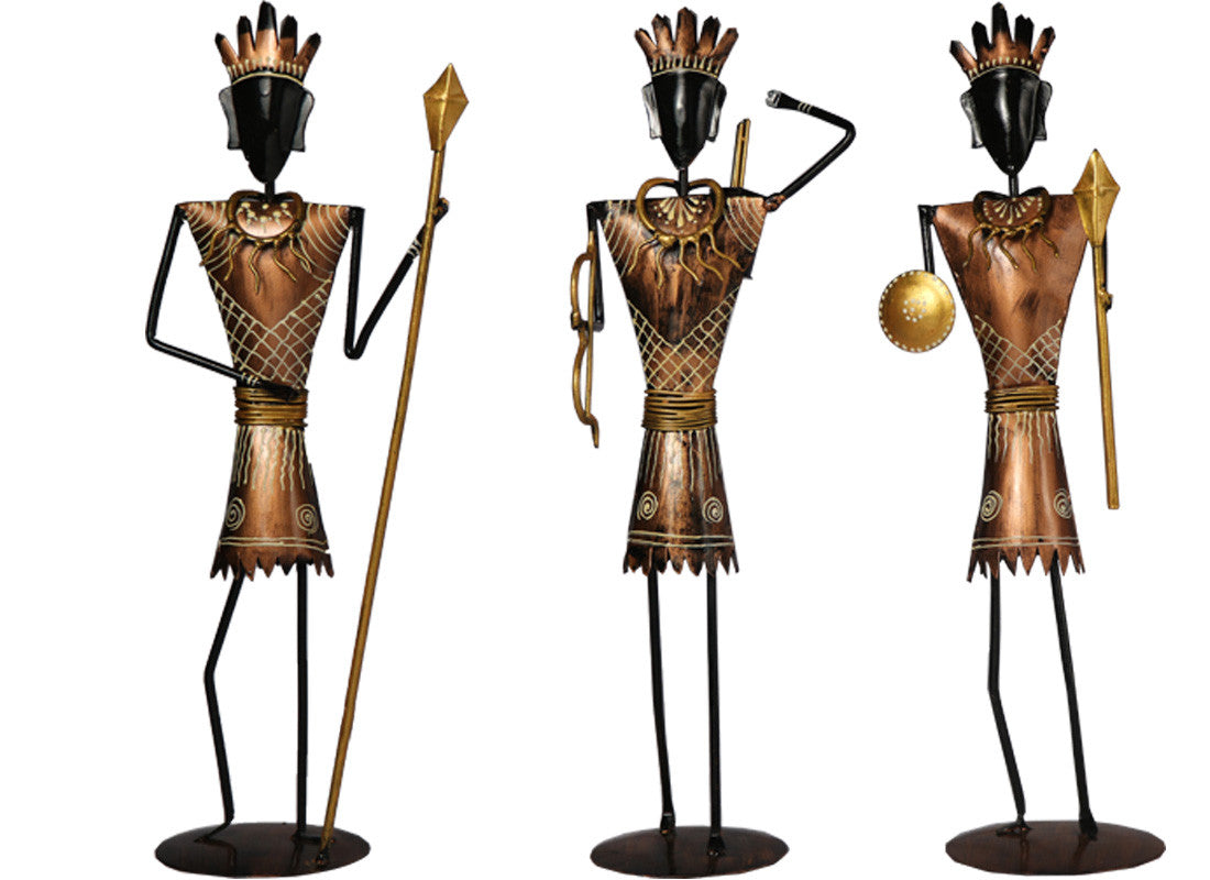 African Hunting Tribal Showpiece Set