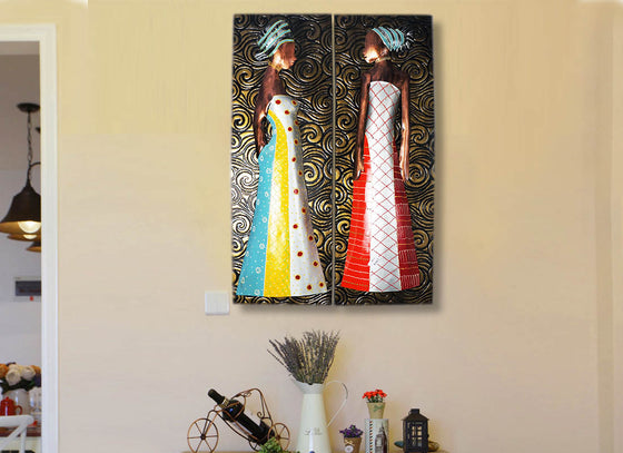 African Women Tribal Wall Décor Frame Set