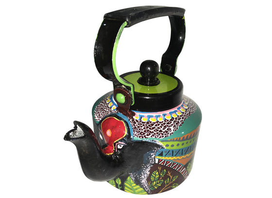 Abstract Art Elephant Design Hand-painted Kettle