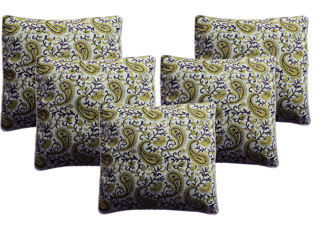 Mehendi Green Cushion Cover  Set OF 5