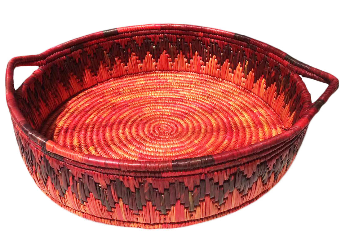 Hand-painted Ethnic Style Reed Basket