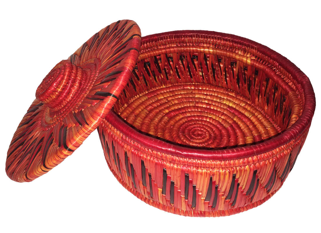 Hand-painted Chapatti Basket with Lid