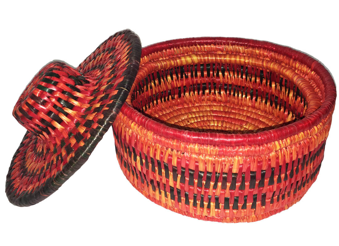 Decorative Handmade Chapatti Basket with Lid