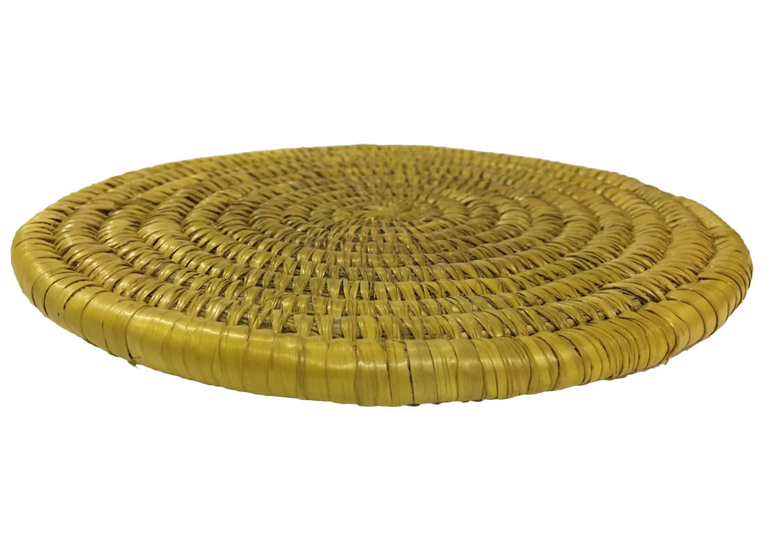 Designer Round Yellow Dining Table Mat