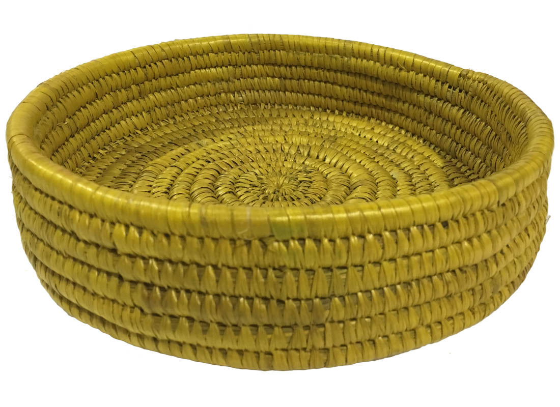 Handcrafted Yellow Basket Plate